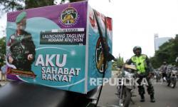 TNI/Polri & UMKM di Banyumas Sinergi Bagikan Paket Sembako