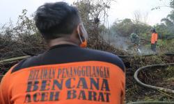 In Picture: Kebakaran Lahan Gambut di Nagan Raya Aceh