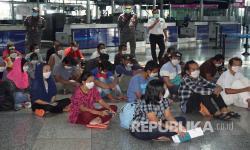 In Picture: TKI Ilegal dari Malaysia Dideportasi
