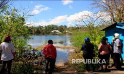 In Picture: Fenomena Munculnya Danau Baru Pascasiklon Seroja di Kupang