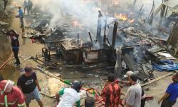 Polres: 1.273 Unit Kios Terbakar di Pasar Ciranjang