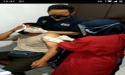 Duh...Anggota Polisi di Tasikmalaya Histeris Disuntik Vaksin