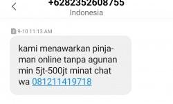OJK: Penawaran Pinjaman Lewat SMS atau <em>WA</em> Ilegal