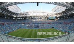 Stadion Krestovsky, St Petersburg, Rusia, tempat digelarnya laga 8 besar atau perempat final Euro 2020 antara Swiss vs Spanyol.