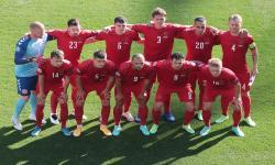 Para pemain timnas Denmark.