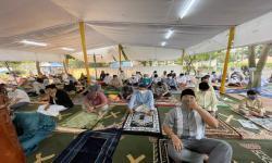 Keharuan Kala Shalat Id di Masjid Tenda Attabayun, Meruya