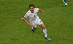 Pemain Denmark Thomas Delaney menjadi man of the match melawan Republik Ceko di perempat final Euro 2020.