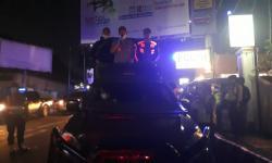 Petugas Gabungan Sukabumi Bubarkan Kerumunan di Pusat Kota