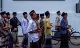 [ilustrasi] Sekolompok santri di sebuah pondok pesantren di Jawa Timur.