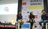 Putri Tanjung Berbagi Rahasia Sukses Hadapi 4.0 Bagi Milenial. (FOTO: Rahmat Saepulloh)