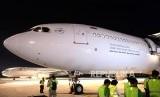 Pesawat Garuda Indonesia yang menjadi angkutan ibadah haji. (Ilustrasi)