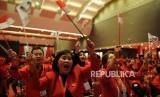 [ilustrasi] Kader PDIP mengikuti acara puncak peringatan HUT PDIP ke 46 di JI-Expo, Kemayoran, Jakarta Pusat, Kamis (10/1/2019).