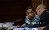Sofyan Basyir Saksi Idrus Marham. Terdakwa dugaan suap proyek PLTU Riau-1 Idrus Marham mengikuti sidang lanjutan di Pengadilan Tipikor, Jakarta, Selasa (12/2/2019).