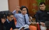 Wakil Ketua KPK Laode M Syarif memberikan paparan saat diskusi media bertajuk