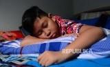 Ilustrasi Anak Laki Laki Sedang Tidur