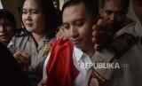Terdakwa  kasus penipuan agen perjalanan umrah First Travel  Andika Surachman usai   menjalani persidangan vonis  di Pengadilan Negeri Depok, Jawa Barat, Selasa (30/5).