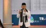 Cawapres No 01 KH Ma'ruf Amin saat mengikuti debat Cawapres Pilpres 2019 di Jakarta, Ahad (17/3).