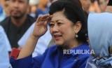 Ani Yudhoyono menghadiri  pernyataan politik Susilo Bambang Yudhoyono di awal tahun 2018 di kantor Sekretariat DPC Partai Demokrat, Jalan Tegar Beriman, Cibinong, Kabupaten Bogor, Jawa Barat, Jumat (5/1).
