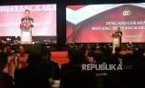 Kapolri Jenderal Pol Tito Karnavian memberikan sambutan pada acara penganugerahan Bintang Bhayangkara Utama di Jakarta, Rabu (13/12).