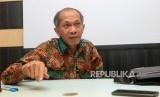 Kepala Pusat Kesehatan Haji Eka Jusup Singka memberikan paparannya saat wawancara di Gedung Kemenkes, Jakarta, Rabu (17/10).
