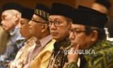 Menteri Agama Lukman Hakim Saifuddin saat menghadiri acara Pembukaan Ijtimak Ulama Al-Quran Tingkat Nasional di Hotel El Royale, Kota Bandung, Senin (8/7) malam.