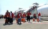 Ilustrasi jamaah haji tiba di Tanah Air