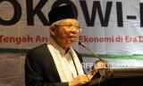 calon Wakil Presiden nomor  01 Maaruf Amin memberikan sambutan saat deklarasi dukungan JAMI kepada pasangan Capres dan Cawpares no 01 di Jakarta, Sabtu (9/2).