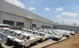 Pabrik Perakitan Esemka. Mobil Esemka selesai perakitan di pabrik perakitan Esemka, Boyolali, Jawa Tengah, Jumat (6/9/2019).