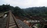 Ilustrasi jalur kereta.