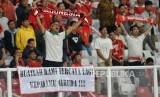 Suporter timnas Indonesia. Ilustrasi