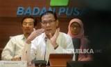 Kepala BPS Suhariyanto menggelar konferensi pers di kantor BPS, Jakarta, Rabu (15/11).