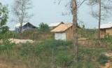 MESUJI, 02/10 - MASALAH REGISTER 45. Sejumlah rumah sementara didirikan para perambah hutan di Register 45, Mesuji, Lampung, Selasa (2/10).