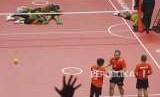 Tambahan Perak dari Sepak Takraw. Tim Sepak Takraw Indonesia usai kalah dari malaysia pada fiinal cabang Sepak Takraw nomor Regu Putra Asian Games 2018 di Komplek Olahraga Jakabaring, Palembang, Selasa (28/8).