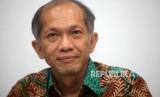 Kepala Pusat Kesehatan Haji Eka Jusup Singka berpose disela-sela saat wawancara di Gedung Kemenkes, Jakarta, Rabu (17/10).