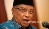 Ketua Umum PBNU Said Aqil Siraj memberikan keterangan saat konferensi pers di Kantor Pusat PBNU, Jakarta, Rabu (23/10).