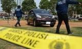 Reka adegan kasus pembunuhan ayah dan anak di Sukabumi