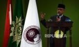 Ketua Umum PP Muhammadiyah Haedar Nashir saat memberikan kuliah umum bertemakan