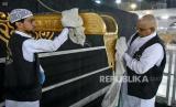 Usai Haji Tuntas, Arab Saudi Bersihkan Ka'bah. Ilustrasi pembersihan Kabah.