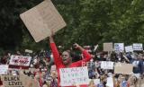 Ribuan warga Australia menggelar unjuk rasa untuk mendukung demonstrasi keadilan rasial di Amerika Serikat (AS). Ilustrasi.