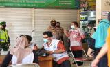 Rapid Test Corona di Pasar Kota Wonogiri. Dok. Polres Wonogiri.