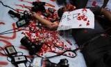 [ilustrasi] Aksi menolak kekerasan terhadap wartawan