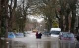 Banjir di Inggris (Ilustrasi).