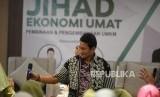 Jihad Ekonomi Umat. Pengusaha yang juga mantan calon wakil presiden RI, Sandiaga Uno menyampaikan paparan saat Seminar Jihad Ekonomi Umat di Yogyakarta, Kamis (14/11).