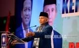 Ketua Majelis Kehormatan PAN Amien Rais memberikan sambutan pada acara pembukaan Rakernas V PAN di Jakarta, Sabtu (7/12).