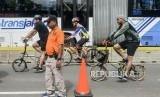 Sejumlah pesepeda melintas saat Car Free Day. ilustrasi