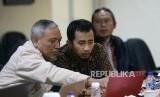 Sejumlah peserta mengikuti pelatihan akuntansi Masjid di Kantor Republika, Jakarta, Sabtu (15/2).