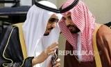 Raja Salman bersama putranya Mohammad Bin Salman