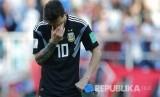 In Picture: Ekspresi Penyesalan Messi, Gagal Eksekusi Penalti