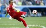 Kesalahan fatal penjaga gawang Uruguay Fernando Muslera menambah keunggulan Prancis 2-0 pada pertandingan babak perempat final Piala Dunia 2018, di Stadion Niznhy Novgorod, Jumat (6/7).
