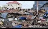 Sejumlah kerusakan akibat gempa dan tsunami di Palu, Sulawesi Tengah , Sabtu (29/9).